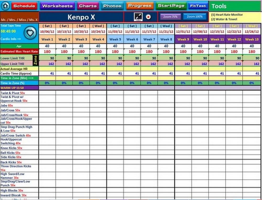 21 Day Fix Extreme Spreadsheet
