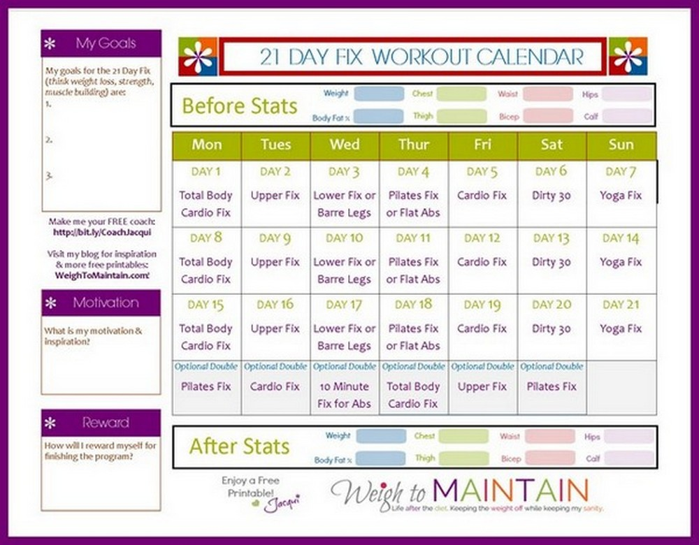 21 day fix meal plan template 18