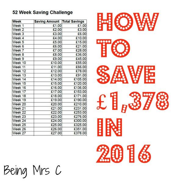 52 week savings plan spreadsheet 2014