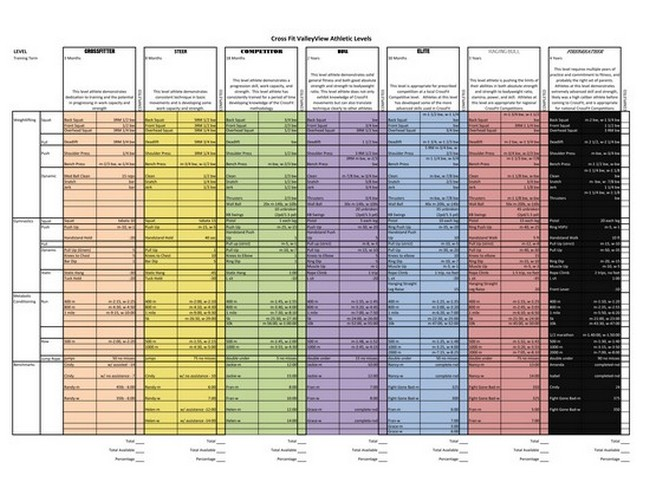 Crossfit Programming Spreadsheet Exel