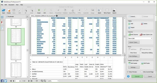 convert pdf to excel spreadsheet free online
