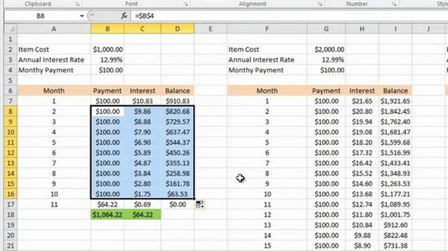 free bill payoff spreadsheet