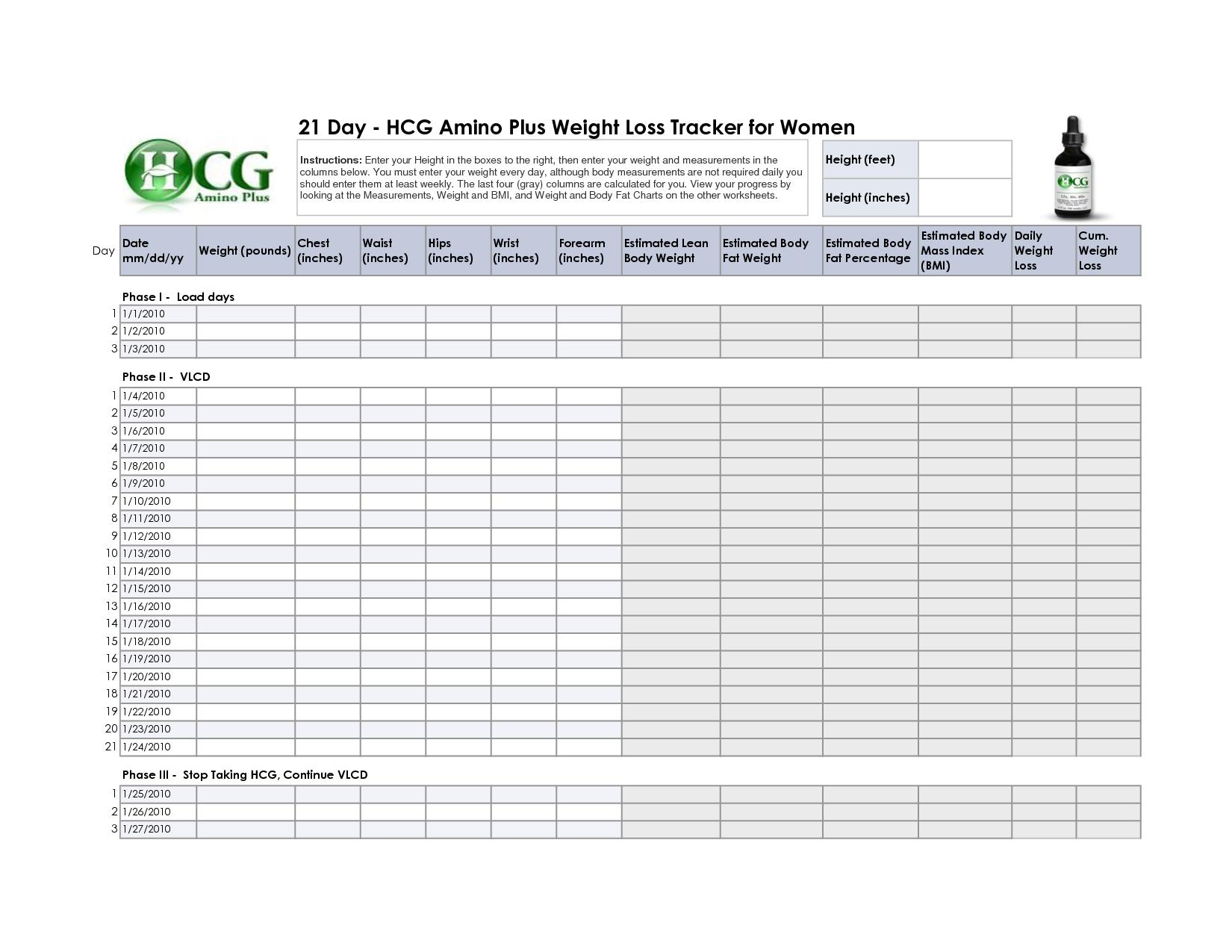 8 week weight loss challenge spreadsheet