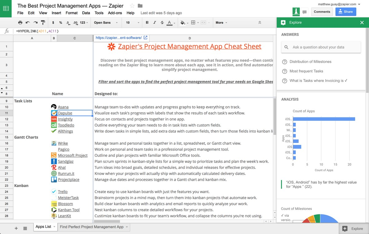 Best Mobile Spreadsheet App