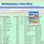 Bookkeeping Spreadsheet Excel