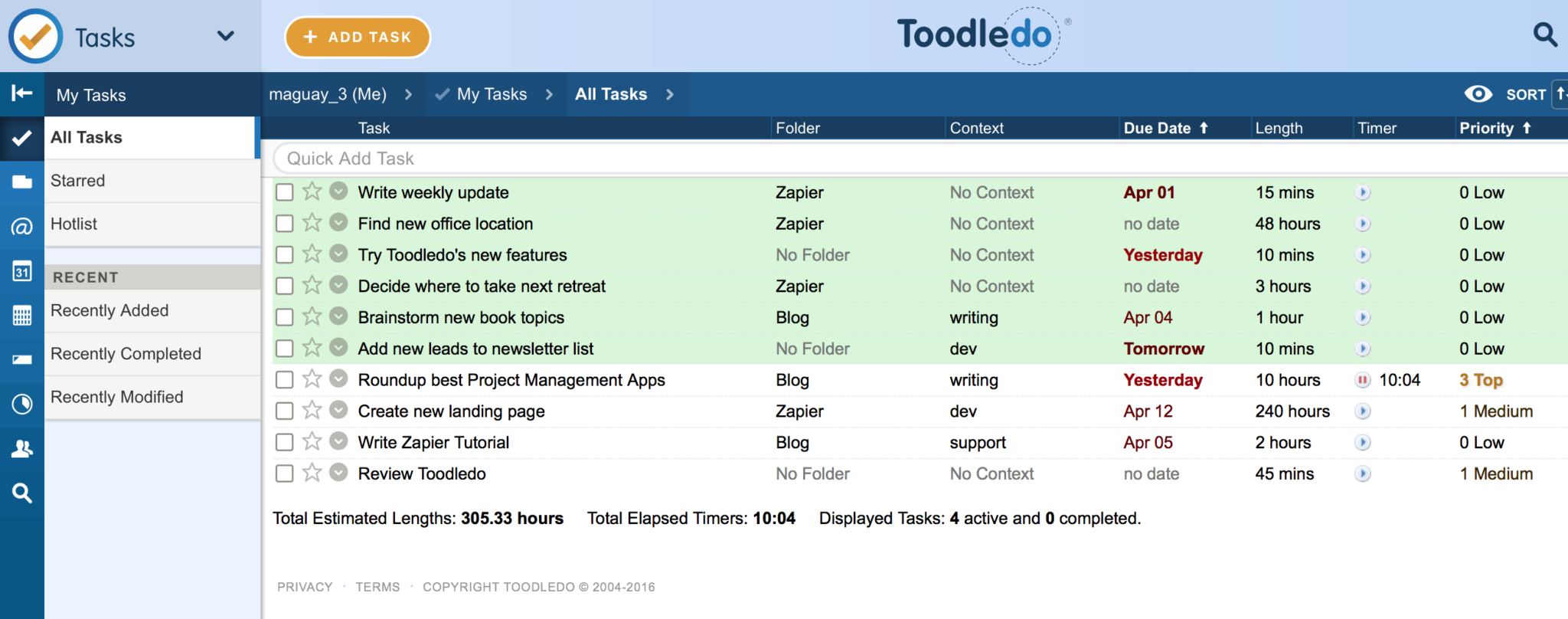 Employee task management template natural buff dog employee task management excel template alramifo Choice Image