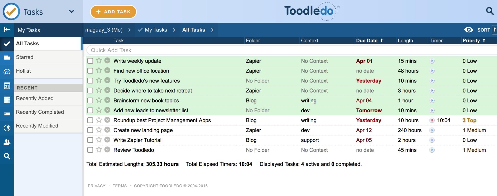 Excel Template Task Management