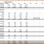 Example Excel Sheet For Monthly Expenses