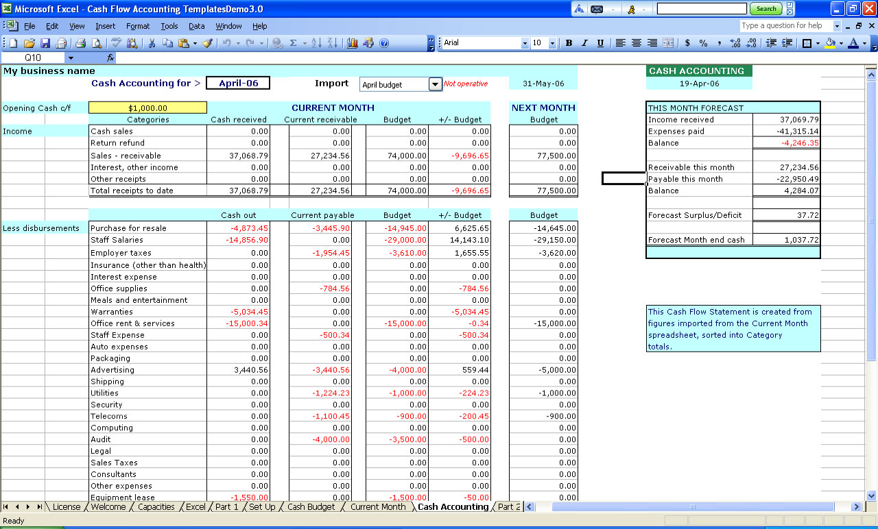 Free Excel Templates For Small Business Accounting