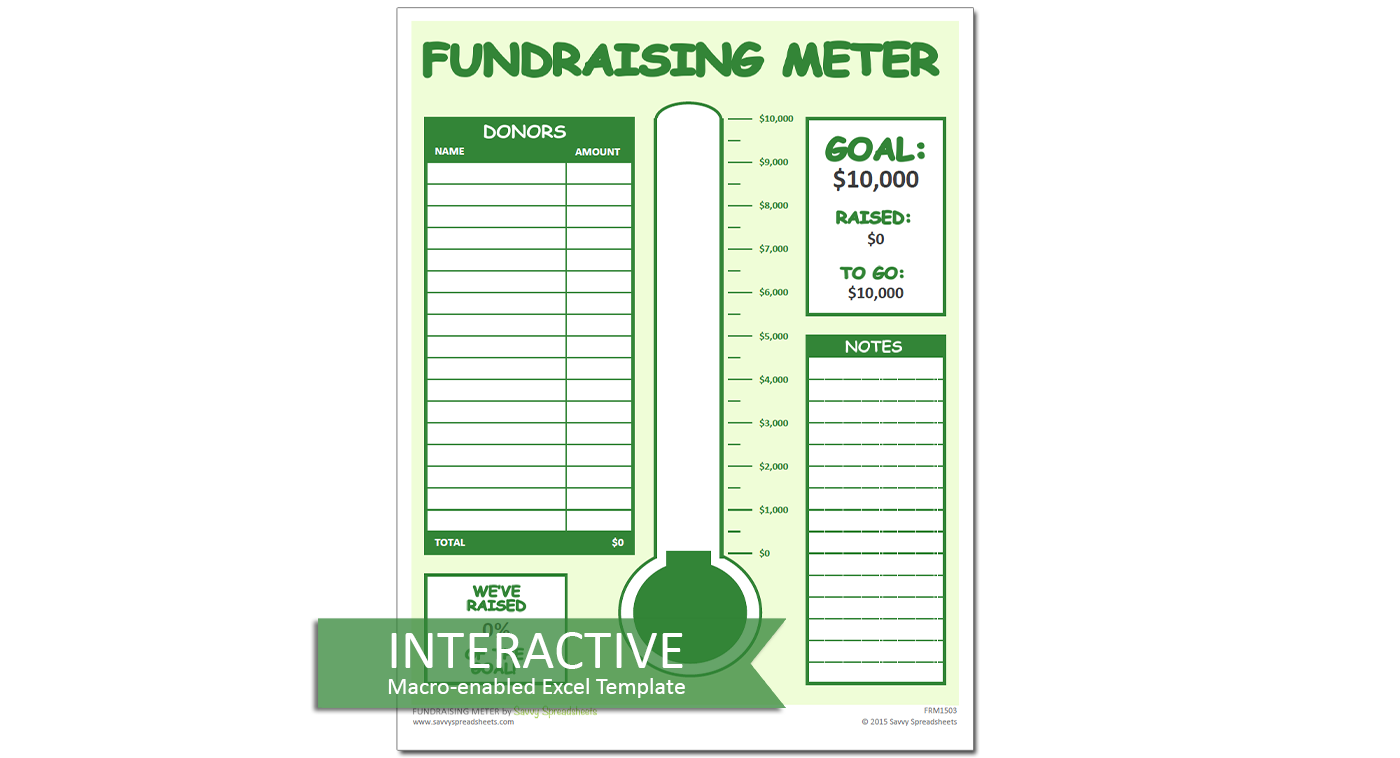 fundraiser spreadsheet templates