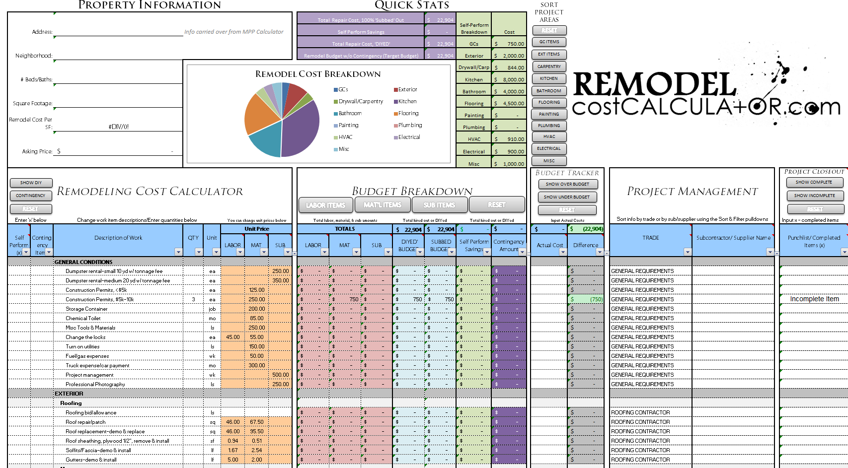 Kitchen Remodeling Cost Calculator