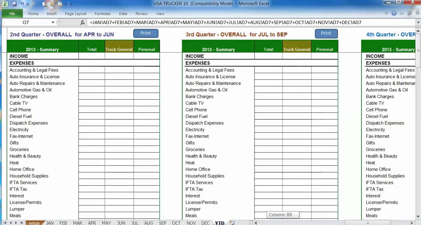 Kpi Tracking Spreadsheet Template And Trucking Business Expenses Spreadsheet