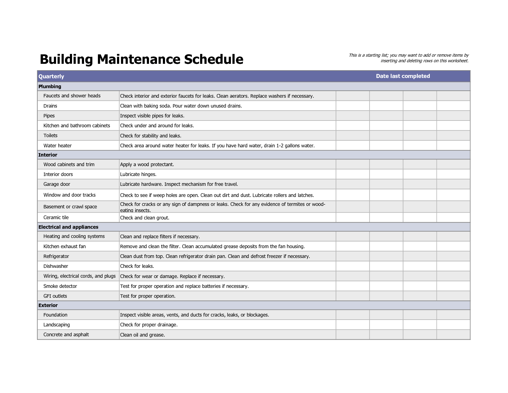 Maintenance Checklist For Car