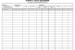Medical Supply Inventory Spreadsheet