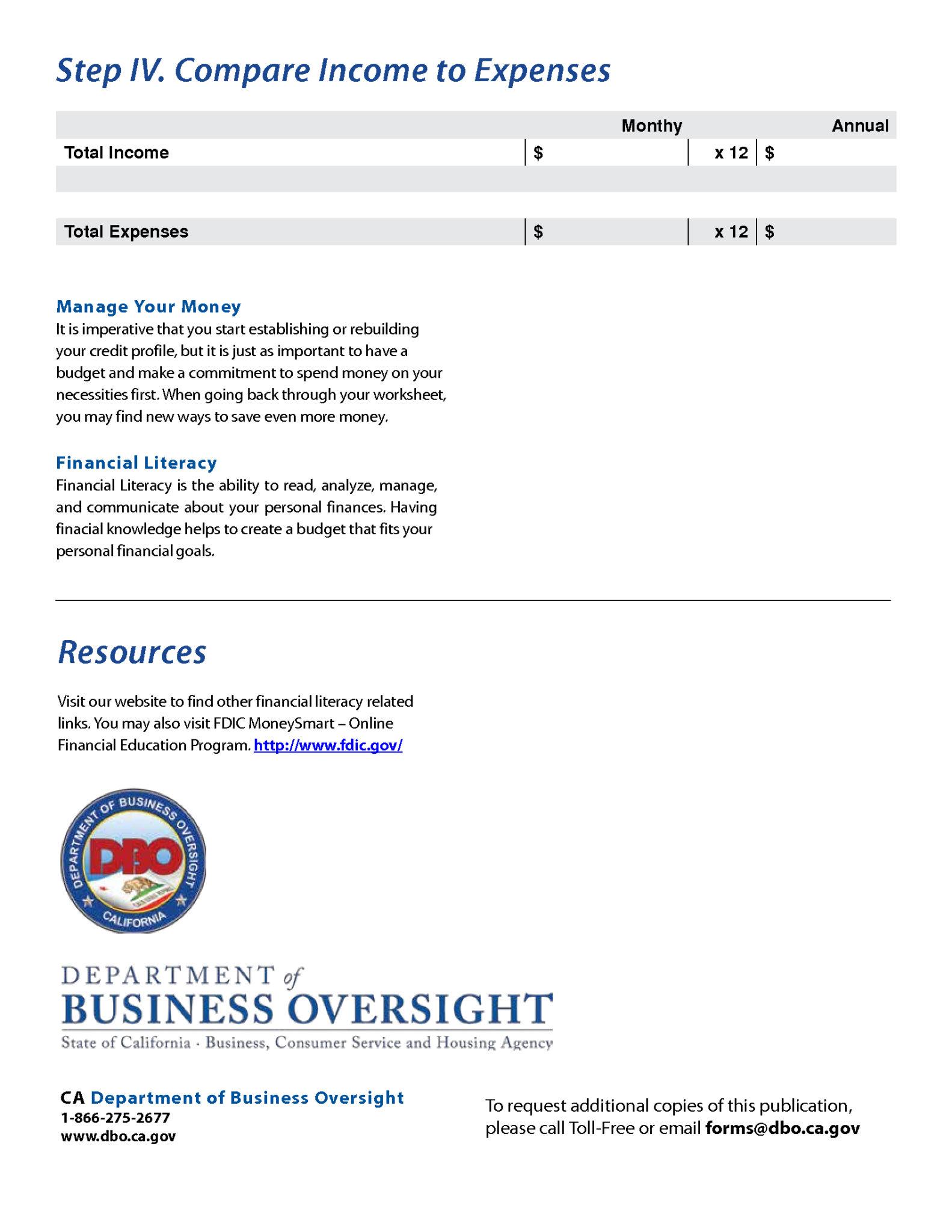 Money Management Excel Spreadsheet
