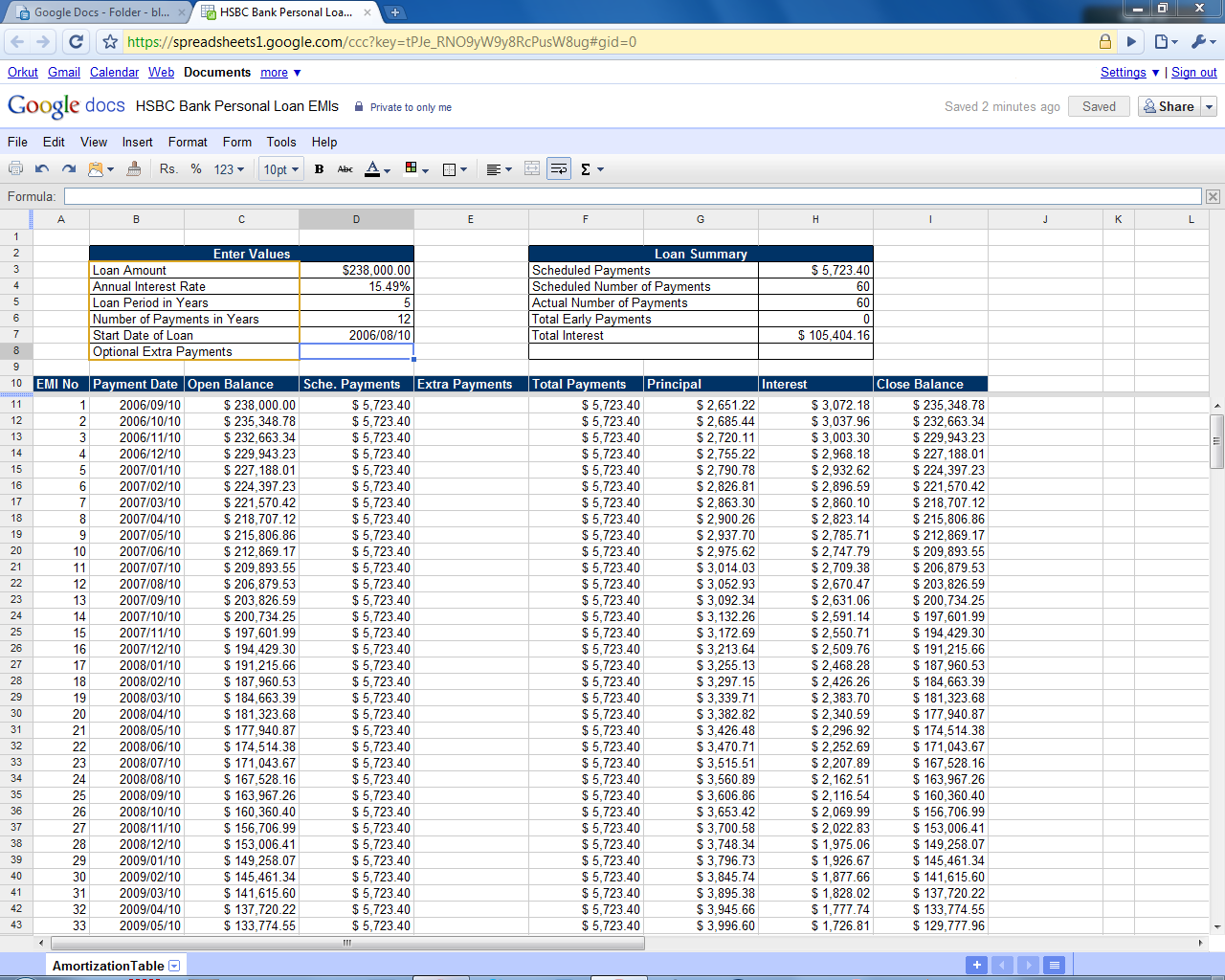 Mortgage Amortization Calculator With Extra Payments Excel