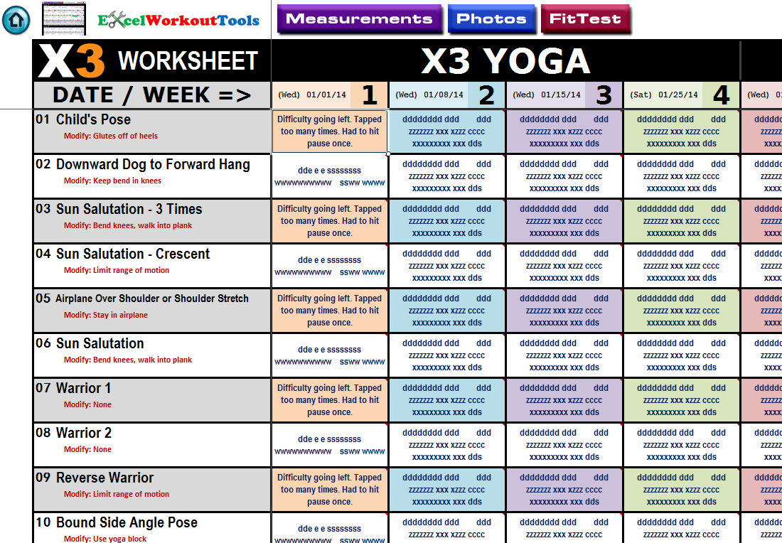 P90x Workout Sheets Plyometrics