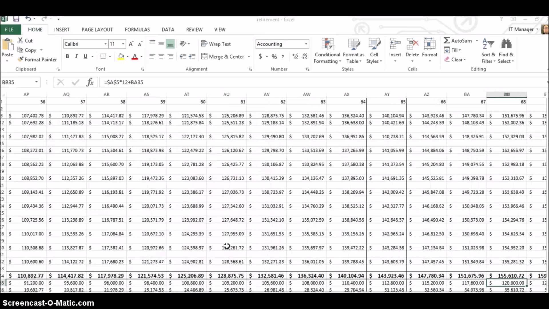 retirement calculation spreadsheet