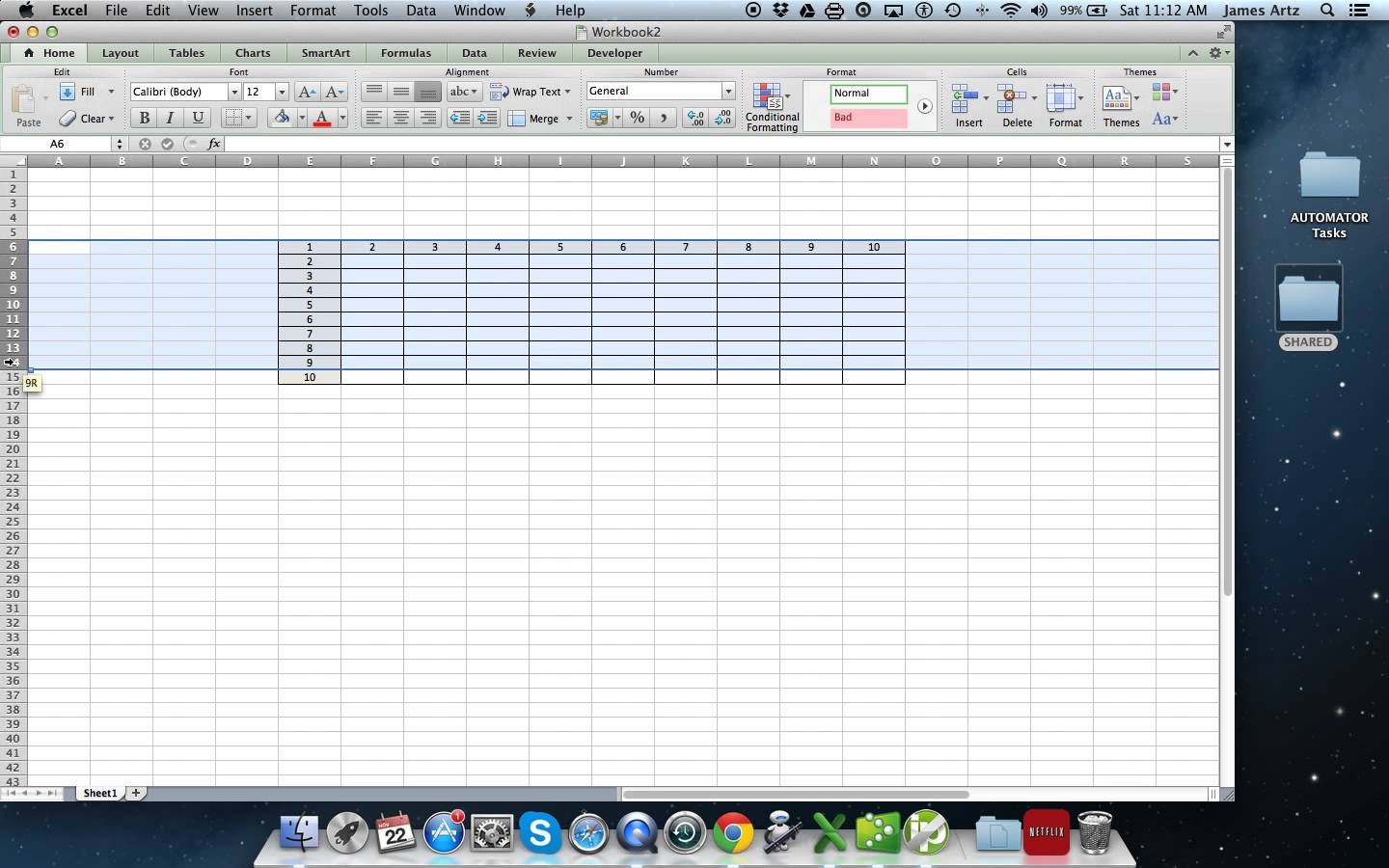 Sample Excel Skills Test For Interview