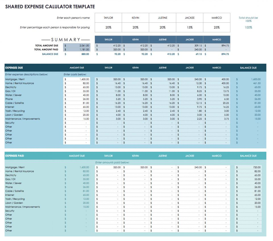 financial planning excel spreadsheet