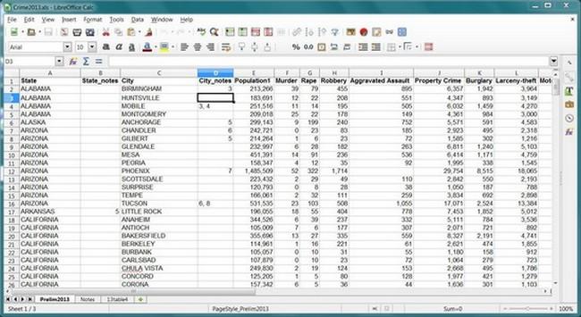 free spreadsheet for windows 10