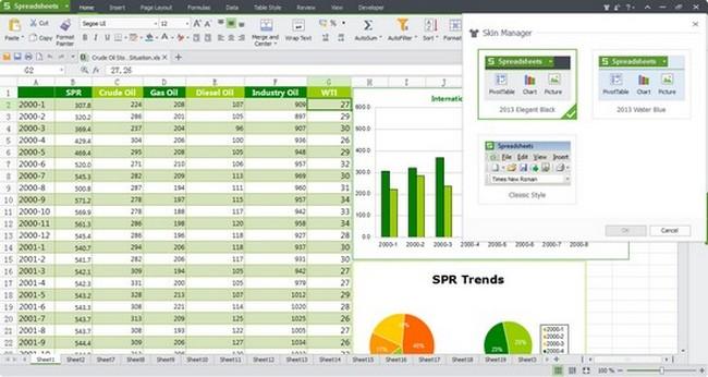 free spreadsheet program for windows 10