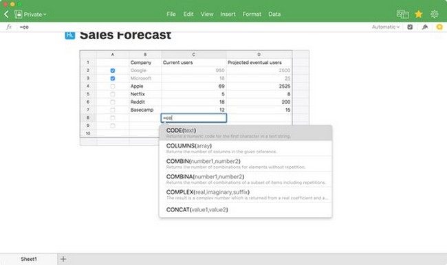 free spreadsheet software for windows 8