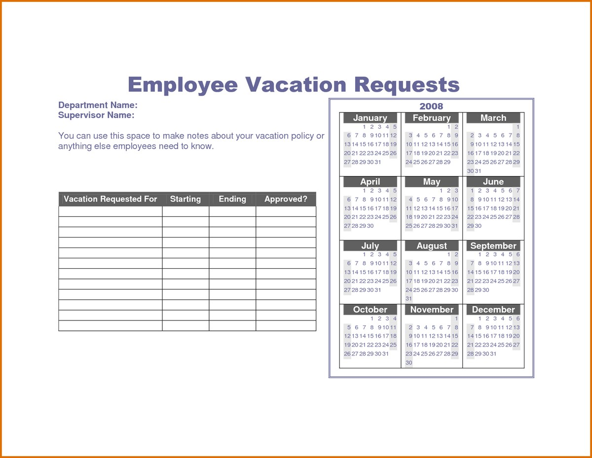 free vacation accrual spreadsheet template