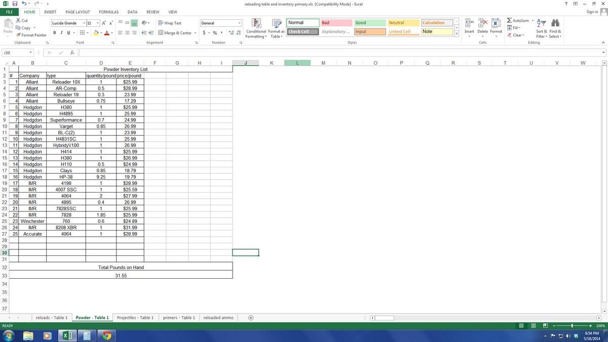 lularoe spreadsheet template