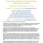 powerball lottery spreadsheet
