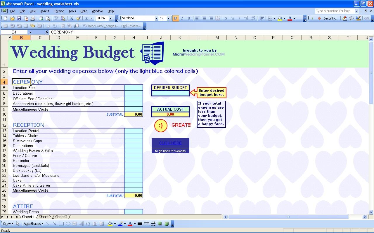 spending tracking spreadsheet