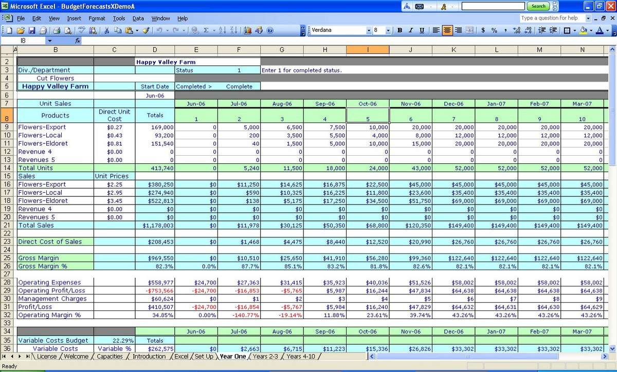 spreadsheet software meaning and examples