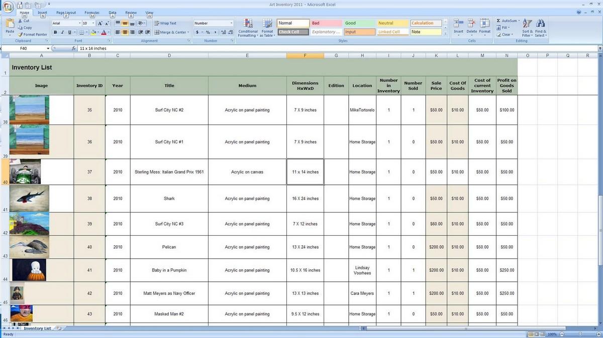 Bar Inventory Control Spreadsheet