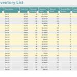 Bar Inventory Spreadsheet Free