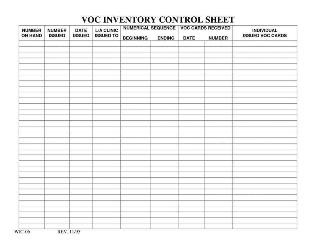 Beverage Inventory Spreadsheet