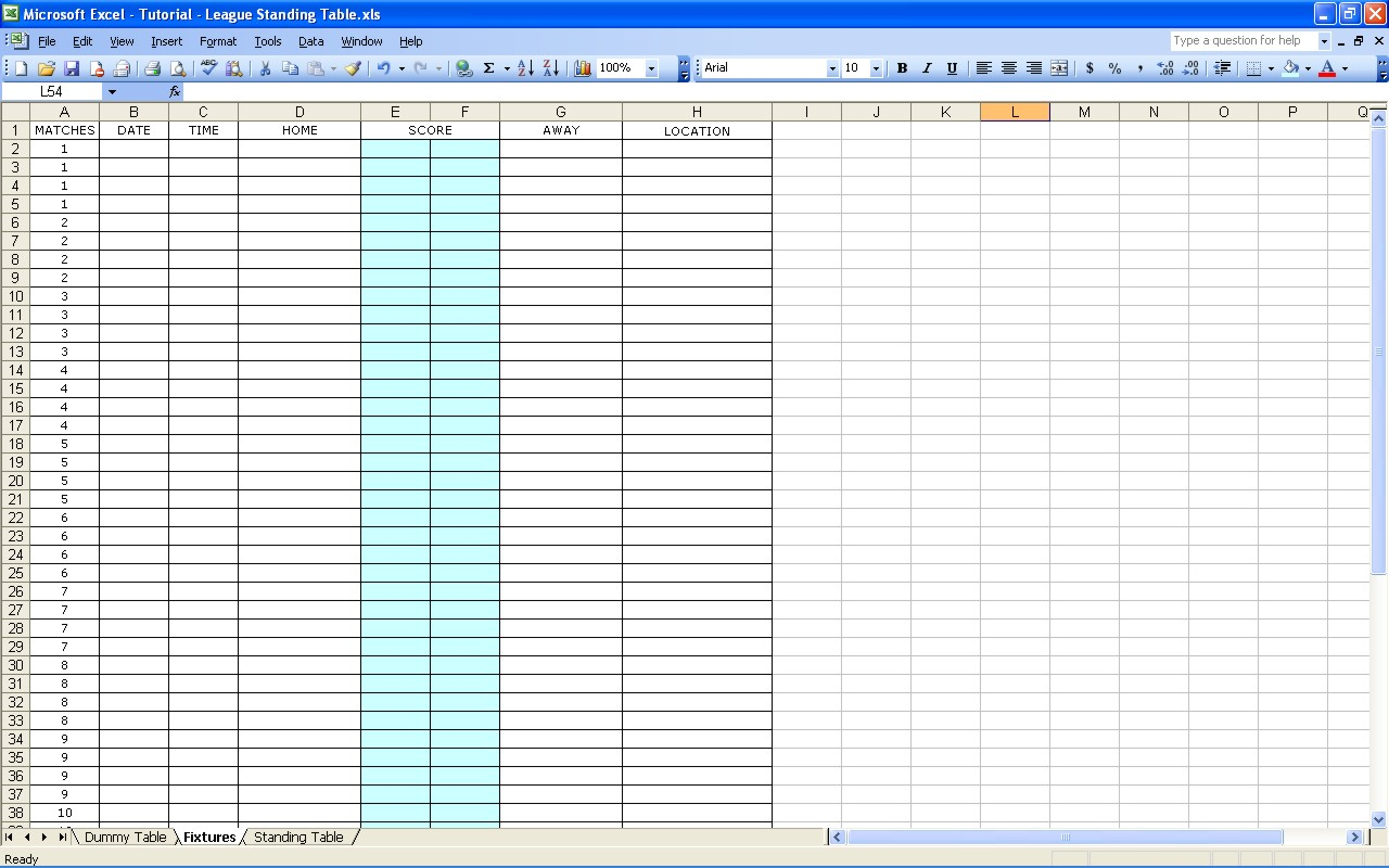 Biggest Loser Calculator Excel
