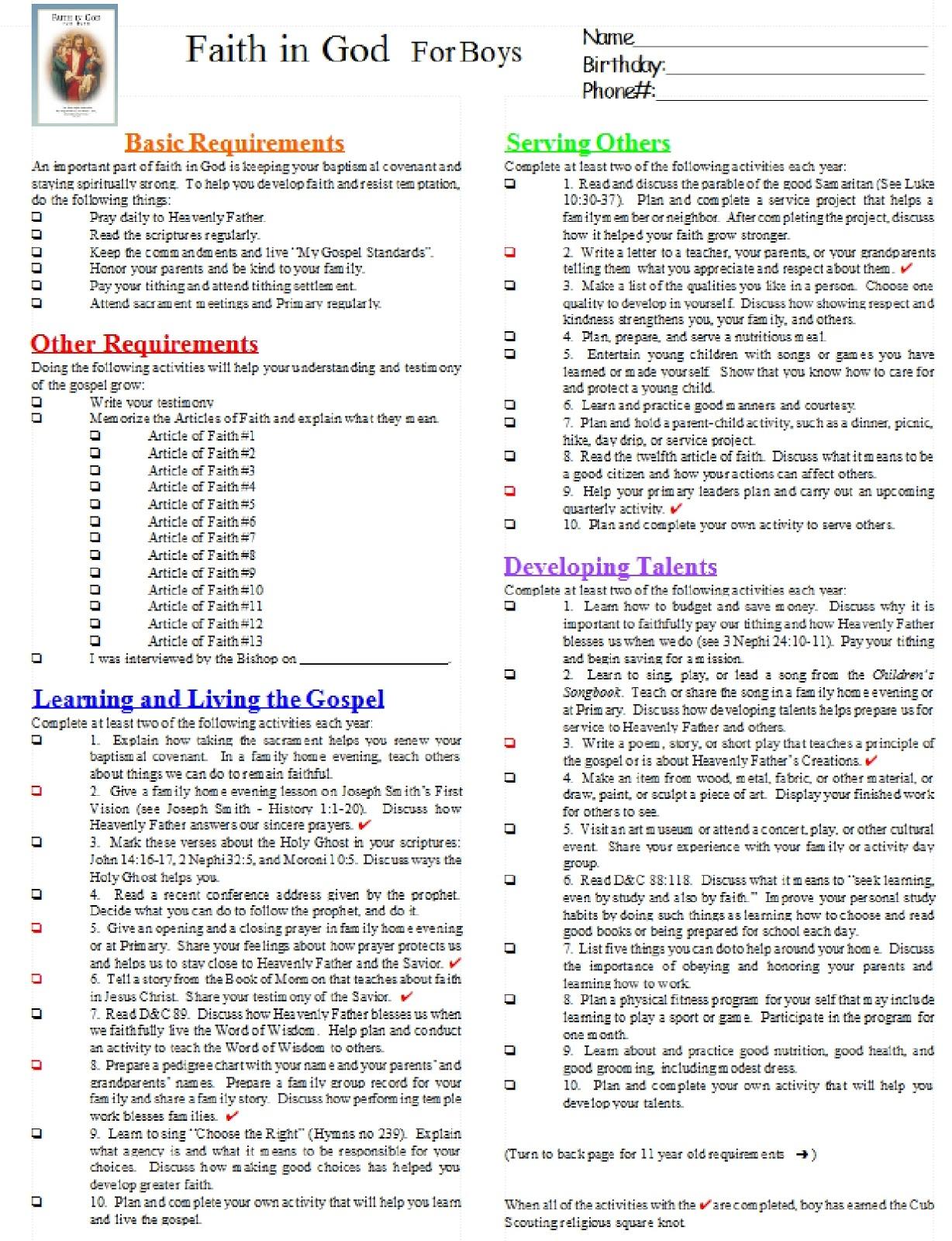 Boy Scout Merit Badge Tracking Spreadsheet