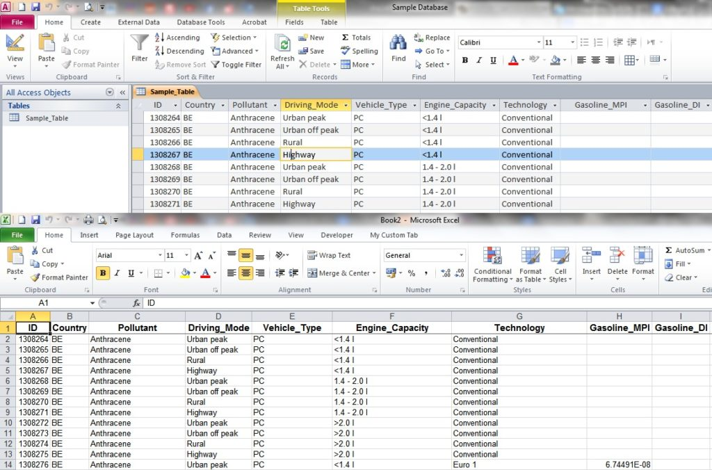 export access data to excel template - convert excel spreadsheet to html table natural buff dog