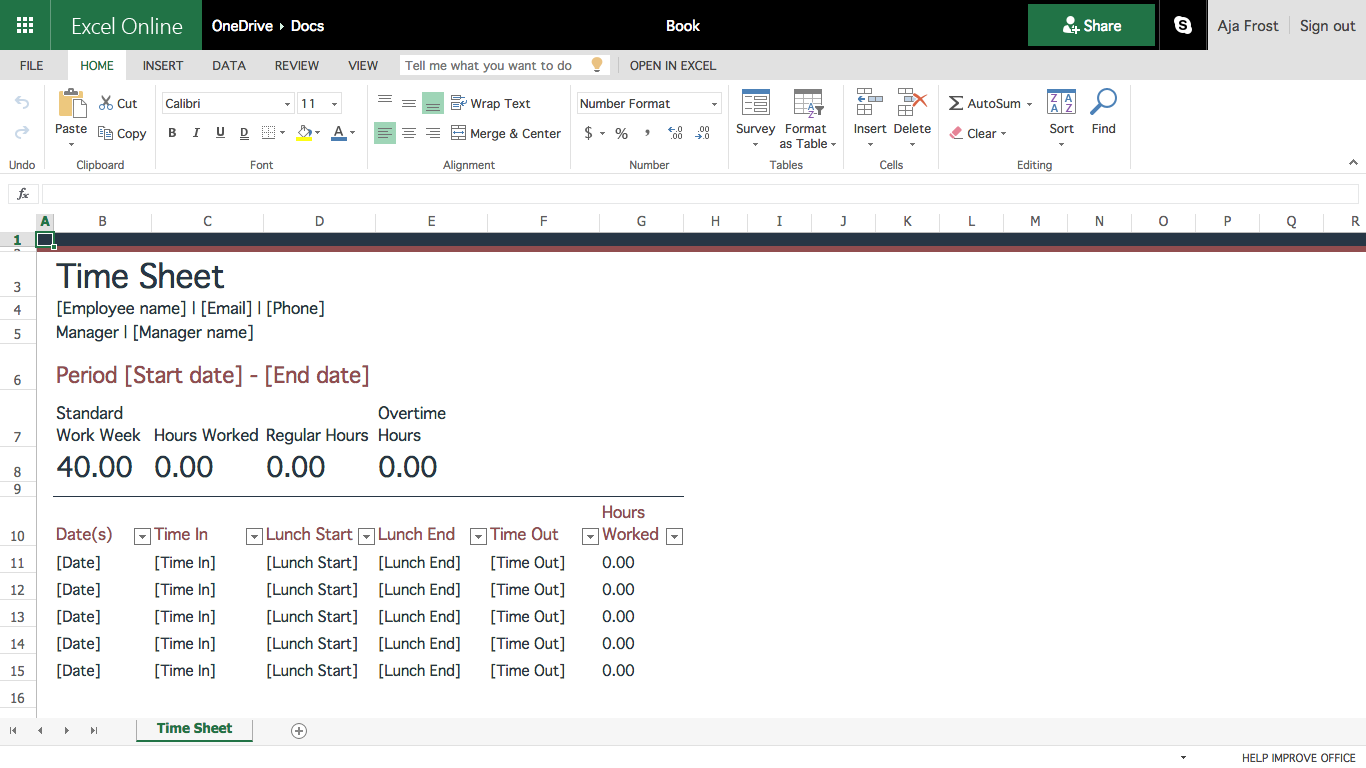 creating a template in excel natural buff dog
