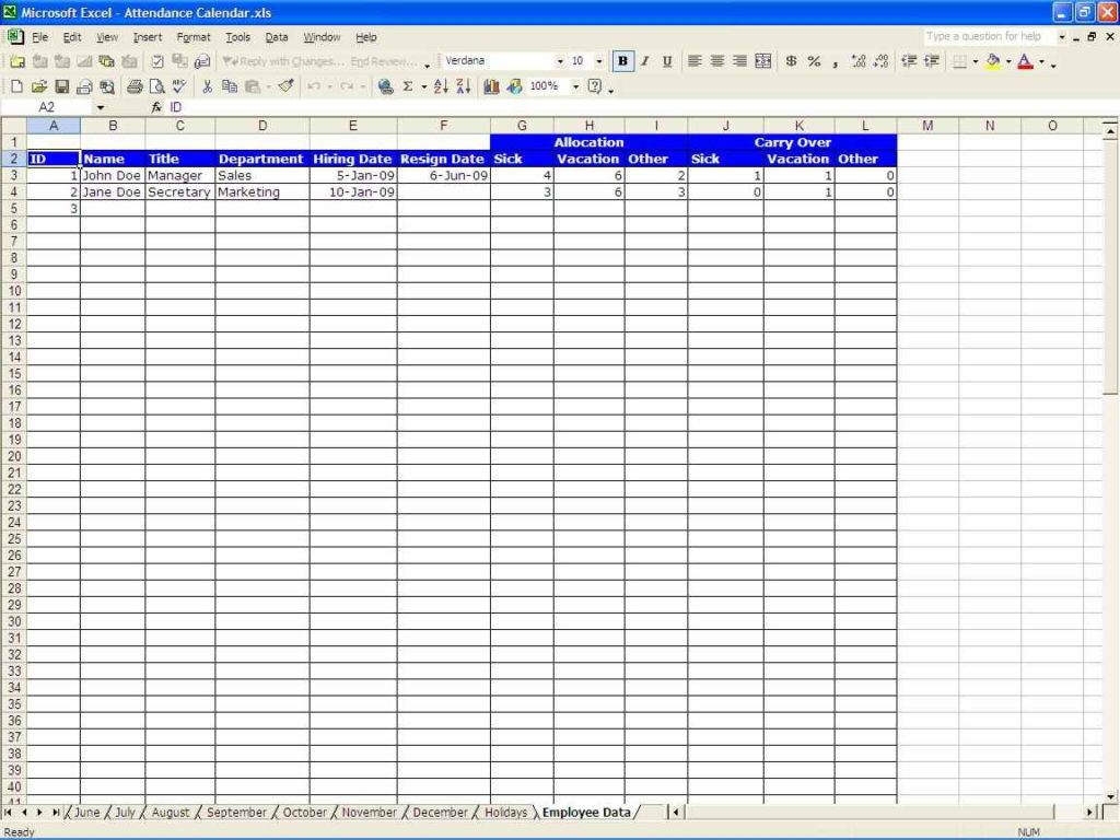 Data Center Inventory Excel
