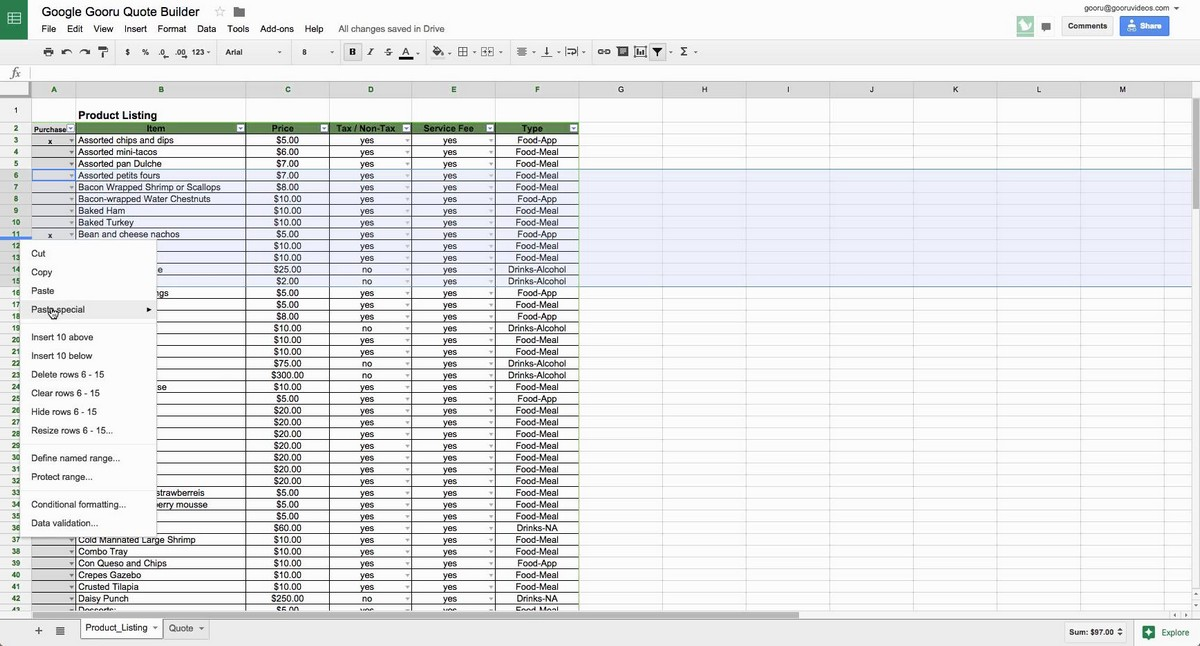 Define Spreadsheet Program