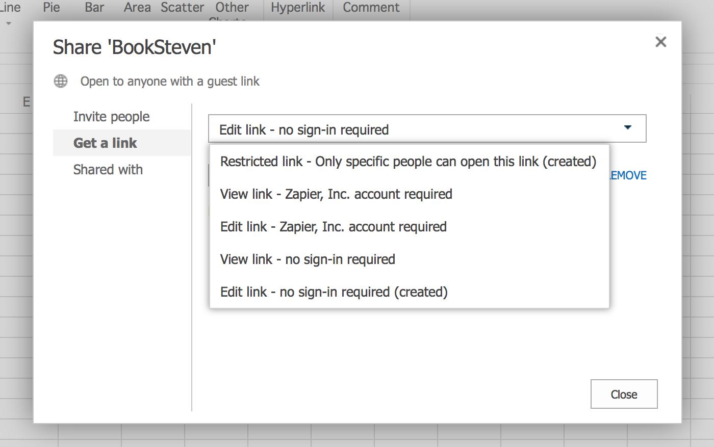Edit Spreadsheet