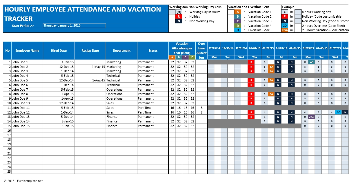 Employee Attendance Excel Sheet Free Download And Employee Attendance Sheet  Format In Excel Free Download  Office Attendance Sheet Excel Free Download