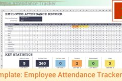 Employee Attendance Tracking Spreadsheet