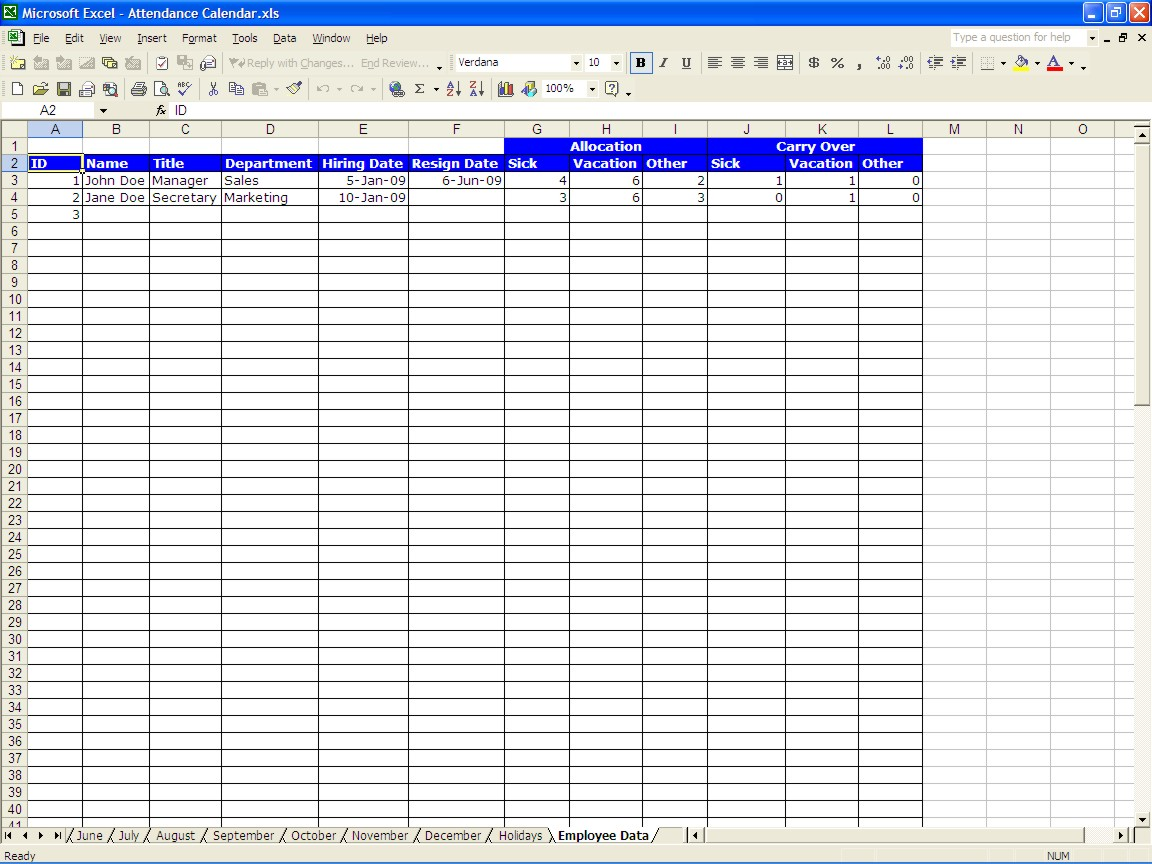 Employee Attendance Software Free Download Full Version And Employee Attendance Tracking Excel