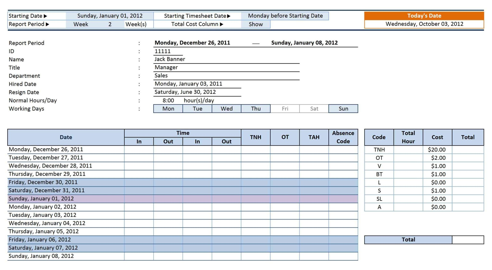 Employee Time And Attendance Tracking Software And Employee Attendance Tracker Printable