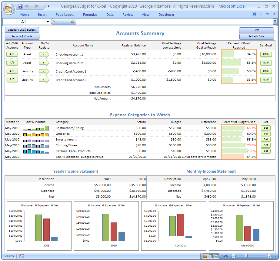 Example Of Electronic Spreadsheet Software