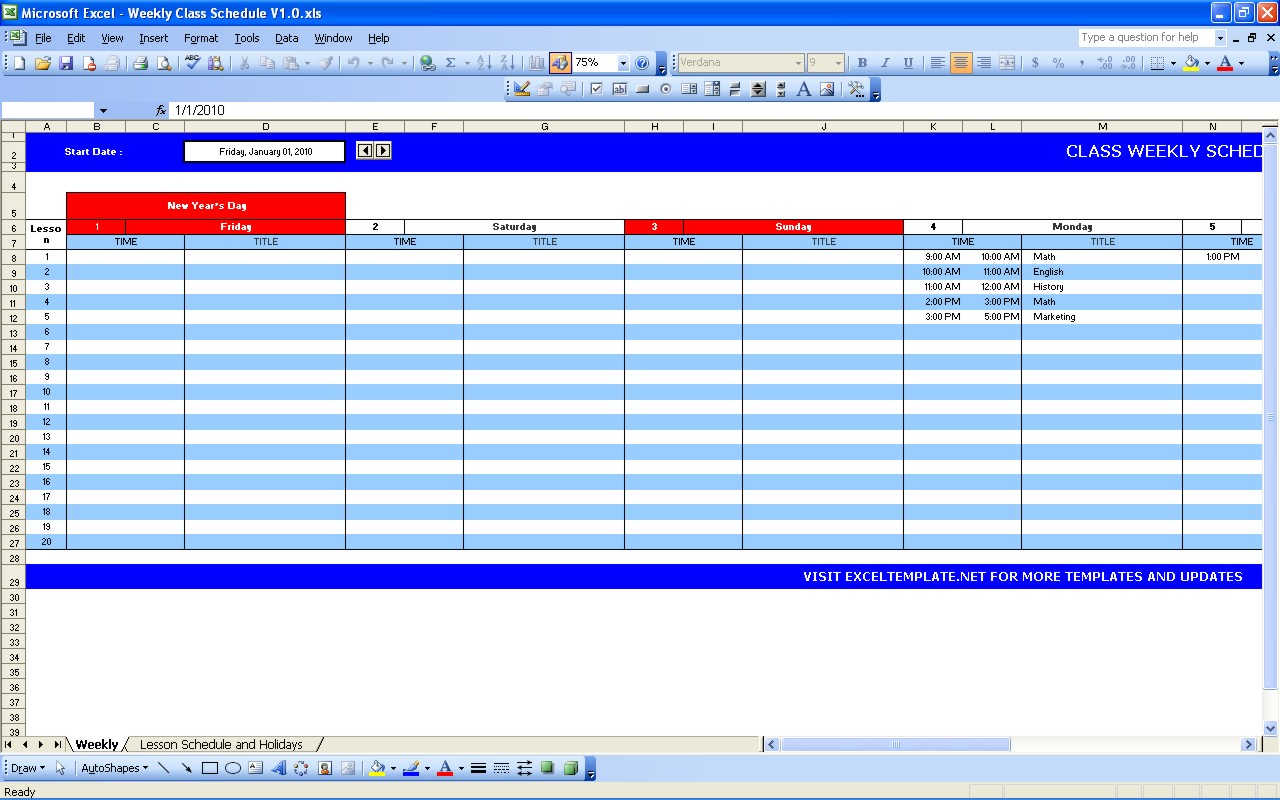 Excel Spreadsheet Course