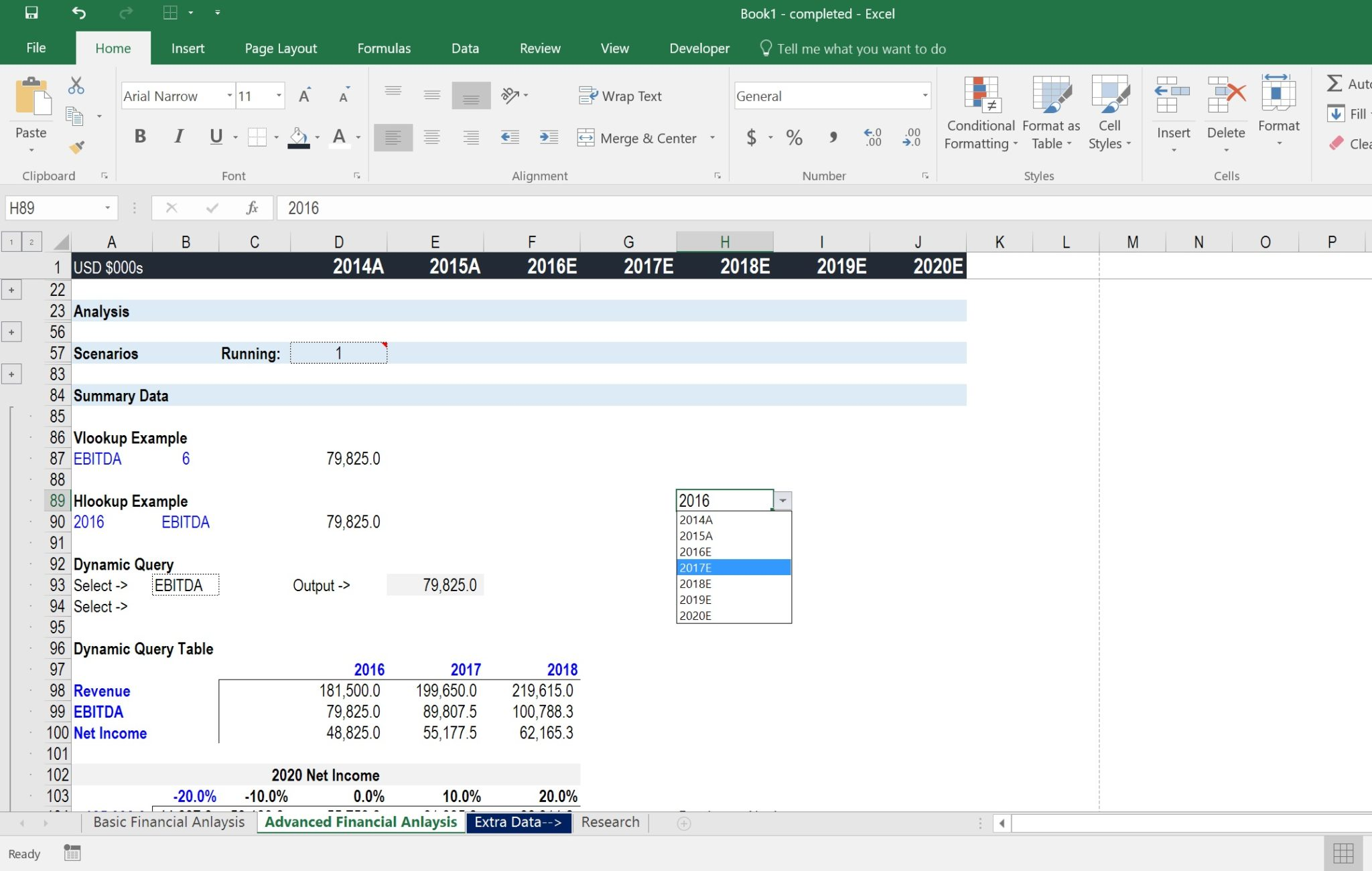 Excel Spreadsheet Courses