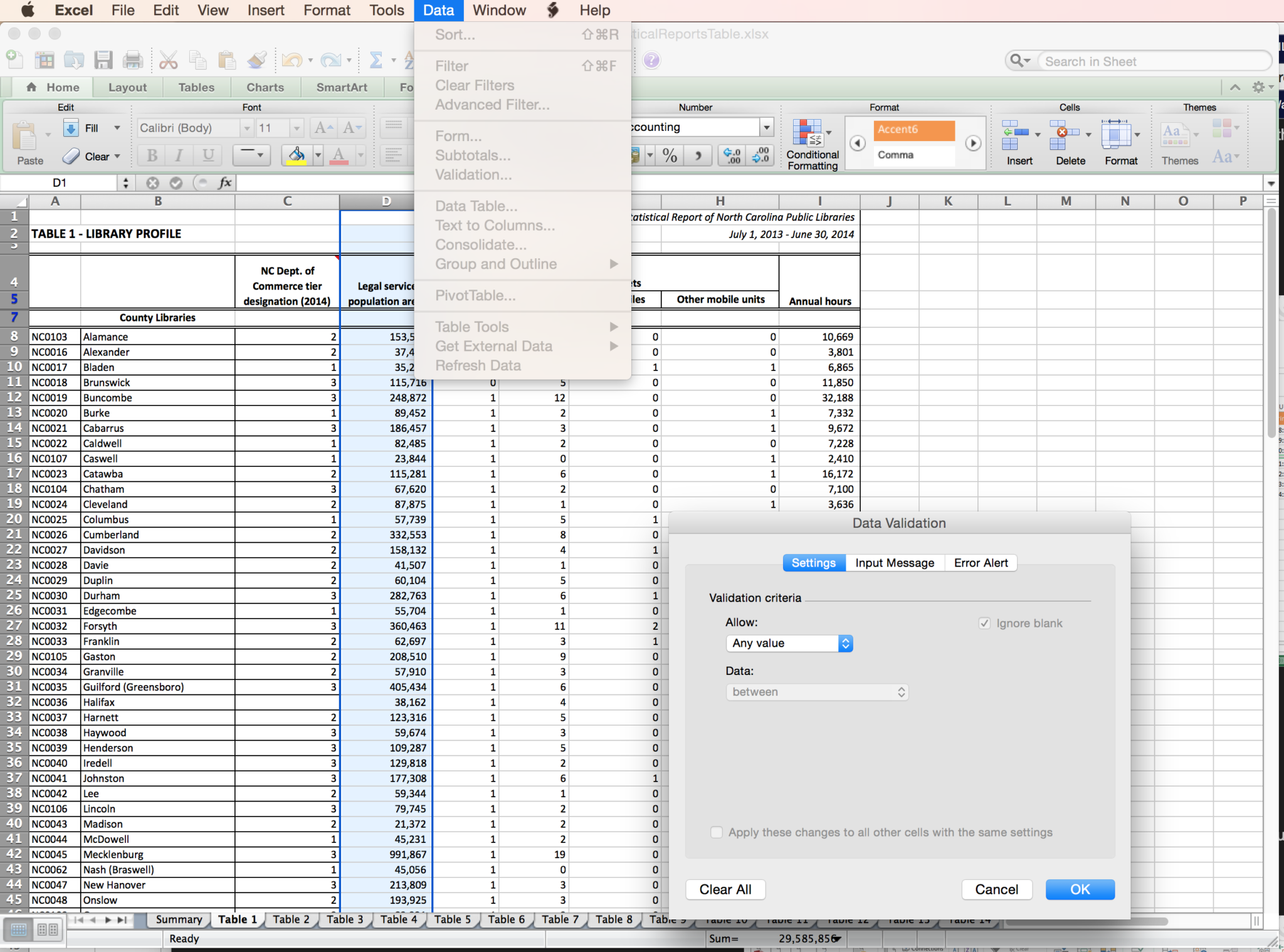 Excel Spreadsheet Validation For Fda 21 Cfr Part 1